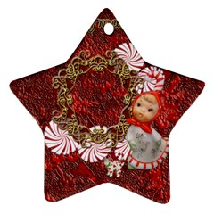 Star Candy Cane Christmas Ornament 2011 2 Side Ornament By Ellan   Star Ornament (two Sides)   3u1ahm10qkqr   Www Artscow Com Front