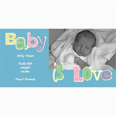 Baby Boy Photo Card By Lana Laflen   4  X 8  Photo Cards   9iblrag7dtf6   Www Artscow Com 8 x4 Photo Card - 6