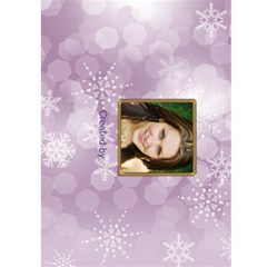 New Year Greeting 5x7 Card (purple) By Deborah   Greeting Card 5  X 7    Lb3w6vvrplbo   Www Artscow Com Back Cover