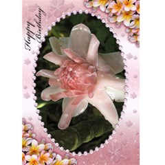 Pink Frangipani Birthday Card (5x7) By Deborah   Greeting Card 5  X 7    Mp07ip1pvxui   Www Artscow Com Front Cover