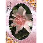 Pink Frangipani Birthday Card (5x7) - Greeting Card 5  x 7