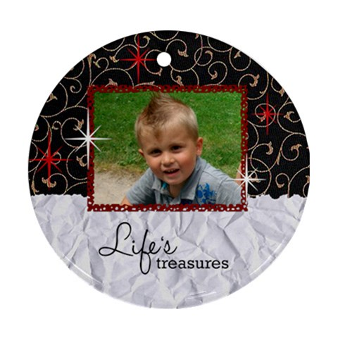 Degan Orna By Jolene   Ornament (round)   1j1qtbrxj08c   Www Artscow Com Front
