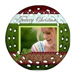 merry christmas - Ornament (Round Filigree)