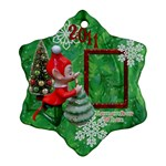 Elf Remember When Snowflake Ornament - Ornament (Snowflake)