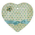 Covered in Teal Heart Ornament 1 - Ornament (Heart)