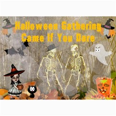 Halloween Party Invitation 4 By Kim Blair   5  X 7  Photo Cards   Bvmfmo6y9uls   Www Artscow Com 7 x5 Photo Card - 7