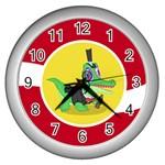 Gummy clock silver - Wall Clock (Silver)