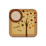 Everlasting Autumn Dots Coaster - Rubber Coaster (Square)