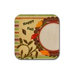 Everlasting Autumn Stripes Coaster - Rubber Coaster (Square)