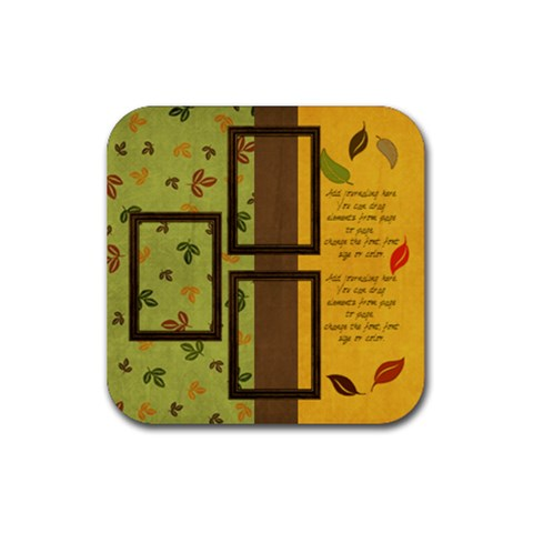 Everlasting Autumn Falling Leaves Coaster By Bitsoscrap   Rubber Coaster (square)   Tws7gd7sax5q   Www Artscow Com Front