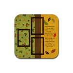 Everlasting Autumn Falling Leaves Coaster - Rubber Coaster (Square)