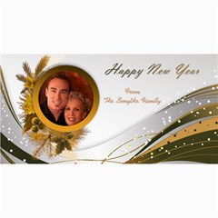 Happy New Year 4x8 Photo Card In Copper By Deborah   4  X 8  Photo Cards   Bf4lz0rsgboy   Www Artscow Com 8 x4 Photo Card - 2