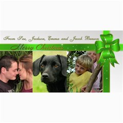 Three Picture 4x8 Photo Card Christmas (green) By Deborah   4  X 8  Photo Cards   Qyd8es3rk3r2   Www Artscow Com 8 x4 Photo Card - 4
