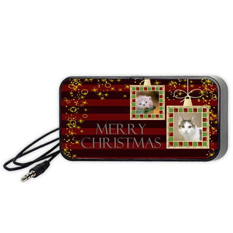 Merry Christmas By Joely   Portable Speaker (black)   1e0r1ldvfmv1   Www Artscow Com Front