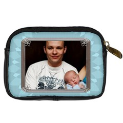 Daddy Loves Me Digital Leather Camera Case By Lil    Digital Camera Leather Case   5m7minq728s1   Www Artscow Com Back