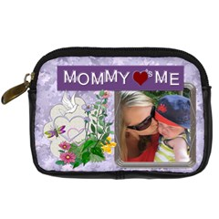 Mommy Loves Me Digital Leather Camera Case By Lil    Digital Camera Leather Case   9gja3tt5omih   Www Artscow Com Front