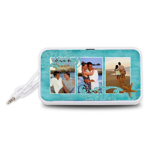 Beach/vacation Portable Speaker (white) By Mikki   Portable Speaker (white)   Opa1nuwy60y5   Www Artscow Com Front
