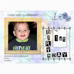 Ist Birthday Party 5x7 Invitation By Lil    5  X 7  Photo Cards   Pktrux6dys8d   Www Artscow Com 7 x5 Photo Card - 7