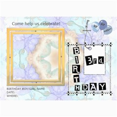 3rd Birthday Party 5x7 Invitation By Lil    5  X 7  Photo Cards   Tgm77e8jacq6   Www Artscow Com 7 x5 Photo Card - 9
