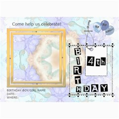 4th Birthday Party 5x7 Invitation By Lil    5  X 7  Photo Cards   A7tjcxlecm8k   Www Artscow Com 7 x5 Photo Card - 10