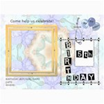 5th Birthday Party 5x7 Invitation - 5  x 7  Photo Cards