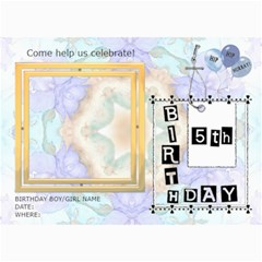 5th Birthday Party 5x7 Invitation By Lil    5  X 7  Photo Cards   Gvb7cxbl0yc4   Www Artscow Com 7 x5 Photo Card - 5