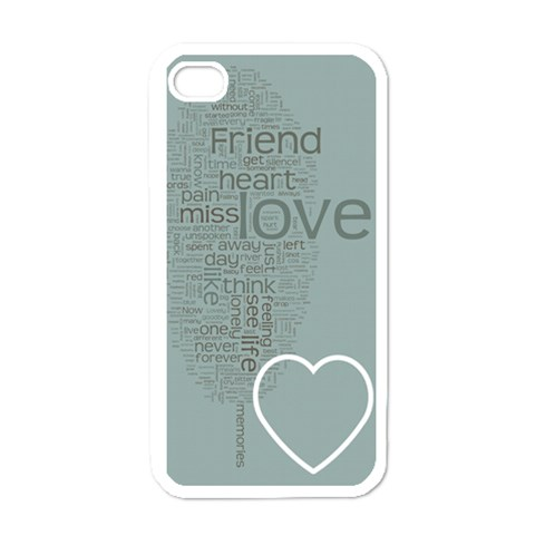 Text Art   Friend  By Hugo Alpha   Apple Iphone 4 Case (white)   V0ldo99oh5kg   Www Artscow Com Front