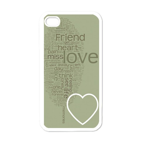 Text Art   Friend  By Hugo Alpha   Apple Iphone 4 Case (white)   Zvy7fhu0yen9   Www Artscow Com Front
