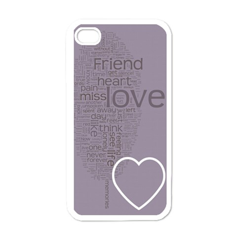 Text Art   Friend  By Hugo Alpha   Apple Iphone 4 Case (white)   Yqww9c3f9pcd   Www Artscow Com Front