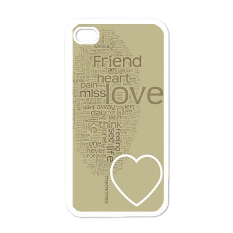Text Art   Friend  By Hugo Alpha   Apple Iphone 4 Case (white)   R95w1fzq0beg   Www Artscow Com Front