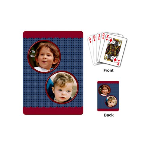 Male Mini Playing Cards By Deborah   Playing Cards (mini)   Qn3rgmx2o2wy   Www Artscow Com Back