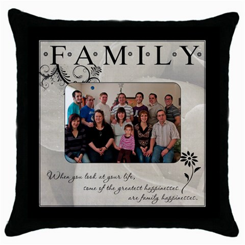 Family Pillow By Mike Anderson   Throw Pillow Case (black)   3kaivr494vs6   Www Artscow Com Front