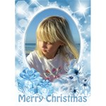 Pastel Blue 5x7 Christmas Card - Greeting Card 5  x 7