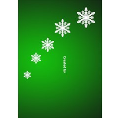 Christmas Green Snowflake 5x7 Card By Deborah   Greeting Card 5  X 7    Ivaiq4dfrn1b   Www Artscow Com Back Cover