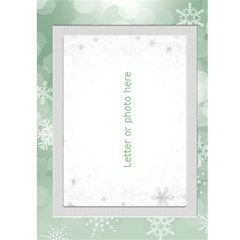 Christmas Green Snowflake 5x7 Card By Deborah   Greeting Card 5  X 7    Ivaiq4dfrn1b   Www Artscow Com Front Inside