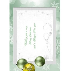 Christmas Green Snowflake 5x7 Card By Deborah   Greeting Card 5  X 7    Ivaiq4dfrn1b   Www Artscow Com Back Inside