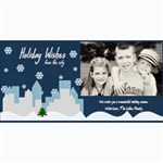 holiday wishes card - 4  x 8  Photo Cards