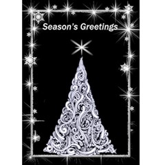 Black And White 5x7 Christmas Card By Deborah   Greeting Card 5  X 7    Xawf613630qg   Www Artscow Com Front Cover