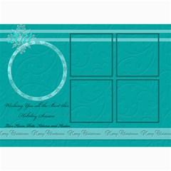 Blue And White 5 Frame Card By Patricia W   5  X 7  Photo Cards   Khowyoycyiir   Www Artscow Com 7 x5 Photo Card - 5