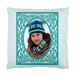 blue frame cushion - Standard Cushion Case (One Side)
