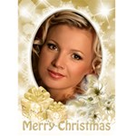 Pastel Gold 5x7 Christmas Card - Greeting Card 5  x 7
