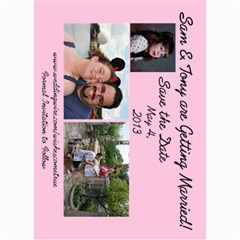 Save The Date By Samantha Woody   5  X 7  Photo Cards   K1n86ykxz87i   Www Artscow Com 7 x5 Photo Card - 7