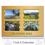 Memories in gold 2017 (any Year) Calendar - Wall Calendar 11  x 8.5  (12-Months)