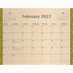 Memories In Gold 2018 (any Year) Calendar By Deborah   Wall Calendar 11  X 8 5  (12 Months)   Adwj0u0fx7bj   Www Artscow Com Feb 2018
