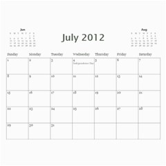 Calendario Papi By Edna   Wall Calendar 11  X 8 5  (12 Months)   Woipmyhz7hzc   Www Artscow Com Jul 2012