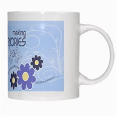 Serenity Blue White Mug By Picklestar Scraps   White Mug   Iu6roux28ytn   Www Artscow Com Right