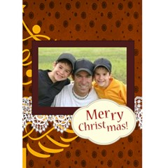 Merry Christmas By Joely   Greeting Card 5  X 7    455570n9fl4u   Www Artscow Com Front Cover