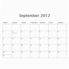 Horne Family Calendar By Gina Horne   Wall Calendar 11  X 8 5  (12 Months)   Gk27b7d9b3ea   Www Artscow Com Sep 2012