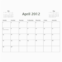 Horne Family Calendar By Gina Horne   Wall Calendar 11  X 8 5  (12 Months)   Gk27b7d9b3ea   Www Artscow Com Apr 2012