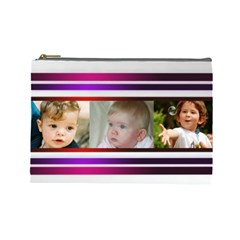 Pretty Stipes Large Cosmetic Bag (6 Photos) By Deborah   Cosmetic Bag (large)   Ymj274aet9qq   Www Artscow Com Front